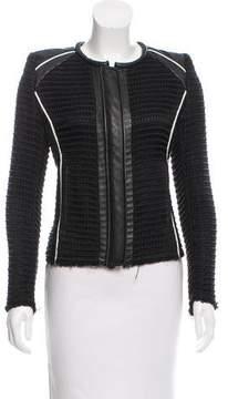 IRO Giana Leather-Trimmed Jacket
