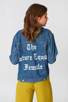 NA-KD Na Kd The Future Equals Female Denim Jacket