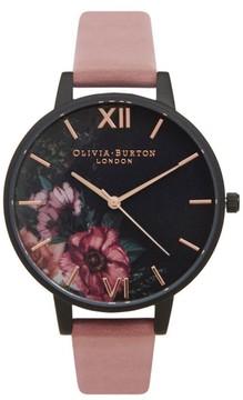 Olivia Burton Women's 'After Dark' Leather Strap Watch, 38Mm