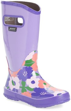Bogs Spring Flower Waterproof Rain Boot (Toddler, Little Kid & Big Kid)