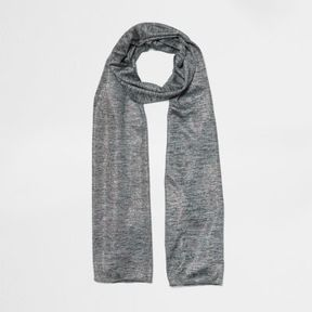 River Island Womens Grey marl metallic jersey scarf