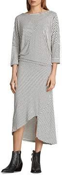 AllSaints Cadie Striped Midi Dress