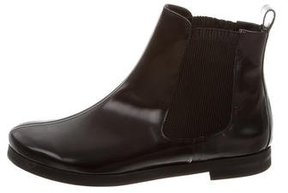 Sonia Rykiel Leather Round-Toe Ankle Boots