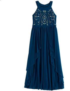 My Michelle Girls 7-16 Jewel Bodice Maxi Dress