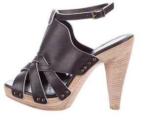Derek Lam Leather Cutout Sandals