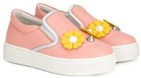 Fendi daisies slip-on sneakers