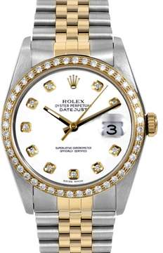 Rolex Datejust Yellow Gold & Stainless Steel 36mm Mens Watch