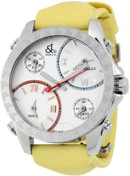 Jacob & co Jacob and Co. Five Time Zone Silver Dial Men's Watch