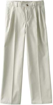 Chaps Boys 8-20 Husky Pleated-Front Twill Pants