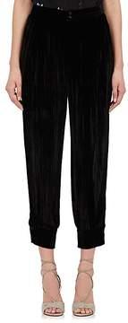Masscob Women's Plissé Velvet Jogger Pants