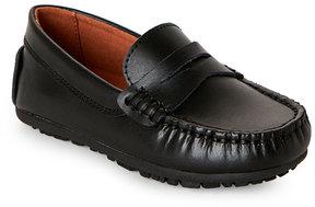 Umi Toddler Boys) Black Daniel Moc Toe Penny Loafers