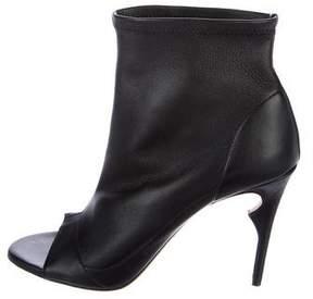 Jerome C. Rousseau Leather Peep-Toe Booties