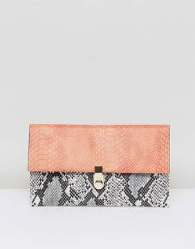 Asos Snake Mix Clutch Bag