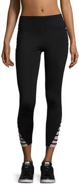 Betsey Johnson Women's Contrast Banded Crop Leggings