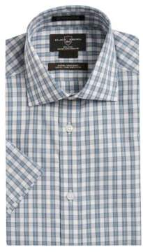 Black & Brown Black Brown Plaid Cotton Dress Shirt