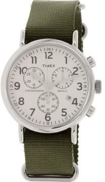 Timex Men's Weekender TW2P71400 Green Nylon Japanese Quartz Fashion Watch
