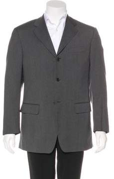 Salvatore Ferragamo Virgin Wool Three-Button Blazer