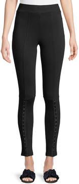 Dex Hook-Front Long Leggings