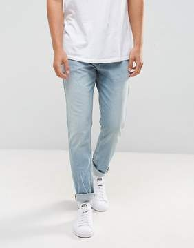 Pull&Bear Slim Jeans In Light Wash