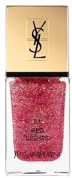 Saint Laurent Dazzling Lights La Laque Couture Nail Polish - 91 Red Lights