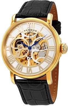 Akribos XXIV Akribos Manual Wind Skeleton Dial Gold-Tone Steel Men's Watch