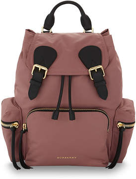 Burberry medium nylon backpack - MAUVE - STYLE