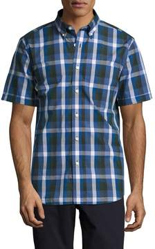 Jack Spade Men's Caufield Exploded Blocked Plaid Sportshirt