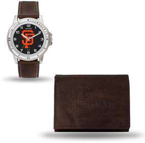 Rico MLB Team Logo Watch and Wallet Combo Gift Set in Brown - Giants