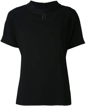 Eleventy cut-out round neck T-shirt