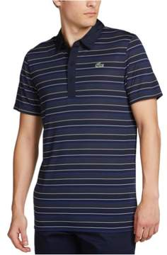 Lacoste Mens UltraDry Striped Rugby Polo Shirt Blue 4XL