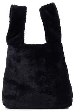 French Connection Elle Wristlet Faux Fur Shopper Bag