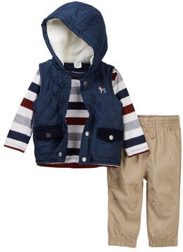 Little Me Navy Quilt 3-Piece Vest Set (Baby Boys)