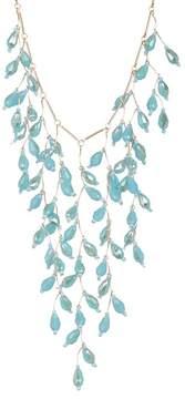 Natasha Accessories Beaded Bar Chain Necklace