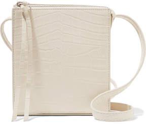 Elizabeth and James Sara Croc-effect Leather Shoulder Bag - Beige