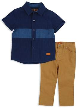7 For All Mankind Boys' Button-Down Shirt & Twill Pants Set - Baby