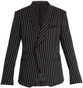 Haider Ackermann Shawl-lapel pinstriped wool blazer