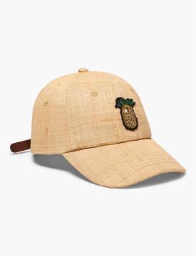 Lucky Brand STRAW BASEBALL HAT