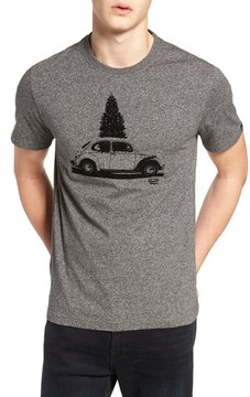 Original Penguin Men's Flocked Christmas Car T-Shirt