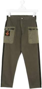 Diesel zip detail trousers