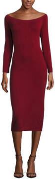 BELLE + SKY Long Sleeve Off Shoulder Bodycon Dress