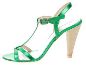 Marc by Marc Jacobs Metallic T-Strap Sandals