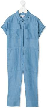 Burberry chambray pocketed jumpsuit