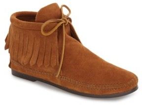 Minnetonka Women's Classic Fringed Chukka Style Boot