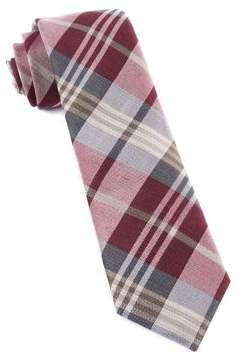 The Tie Bar Crystal Wave Plaid Tie