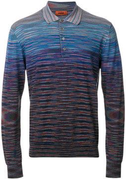Missoni gradient effect knit polo shirt