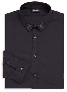 Just Cavalli Embroidered Button-Down Shirt