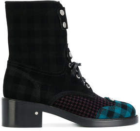 Laurence Dacade pattern panelled lace up ankle boots