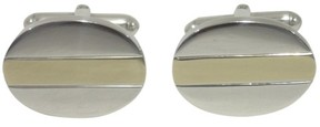 Tiffany & Co. 925 Sterling Silver 18K Yellow Gold Cufflinks