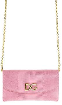 Dolce & Gabbana Logo Dauphine Leather Clutch - CANDY - STYLE