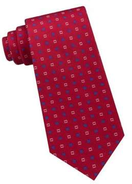 Lord & Taylor The Mens Shop Square Neat Silk Tie
